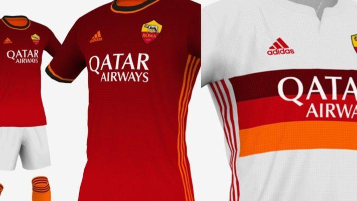 Roma, come sarebbero le nuove maglie con lo sponsor Adidas – FOTO ...