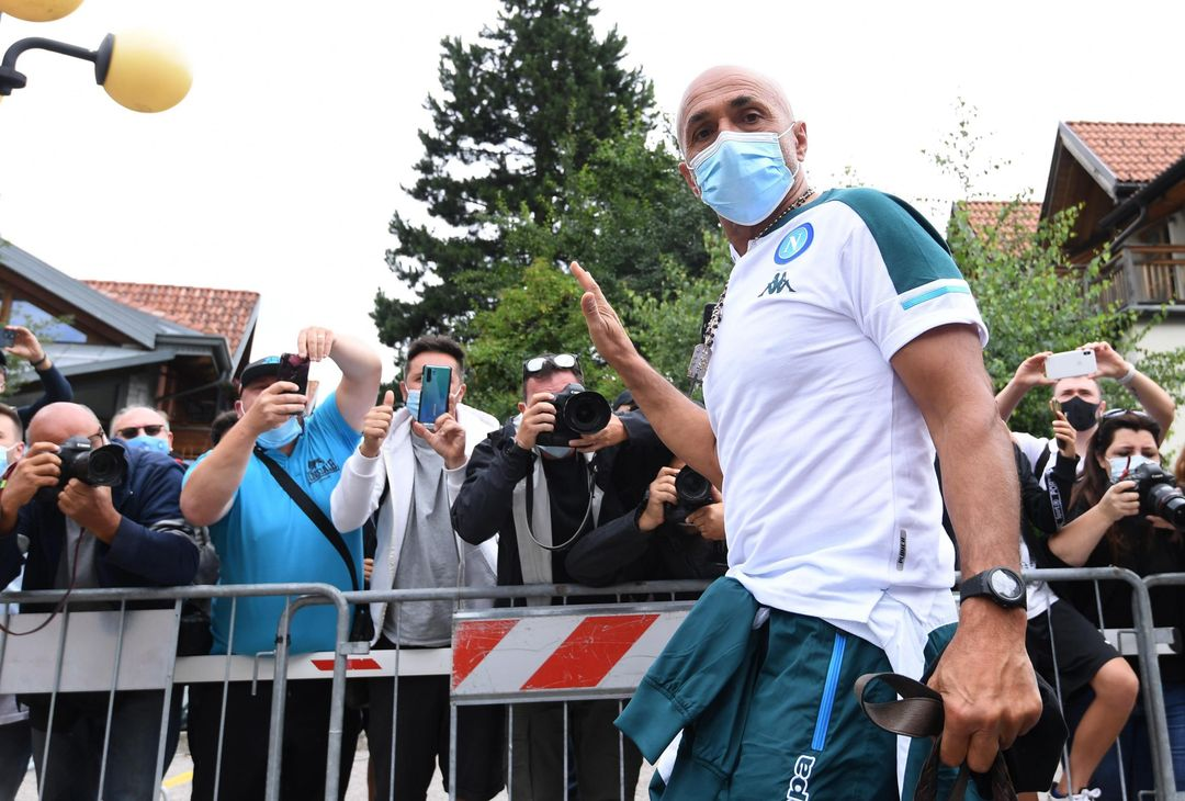 DIMARO, ITALY - JULY 15: Head coach Luciano Spalletti of Napoli arrives at an SSC Napoli training session on July 15, 2021 in Dimaro, Italy. (Photo by SSC NAPOLI/SSC NAPOLI via Getty Images)
