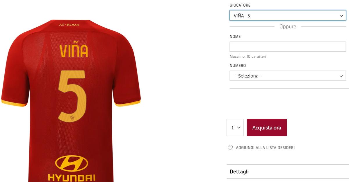 Vina, manca l'annuncio ma la maglia è già in vendita: indosserà la ...