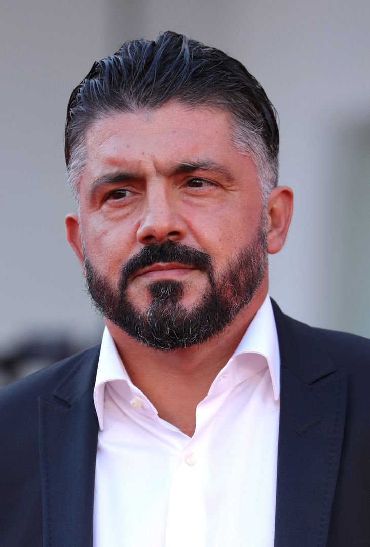 """VENICE, ITALY - SEPTEMBER 08: Gennaro Gattuso attends the red carpet of the movie """"Freaks Out"""" during the 78th Venice International Film Festival on September 08, 2021 in Venice, Italy. (Photo by Vittorio Zunino Celotto/Getty Images)"""