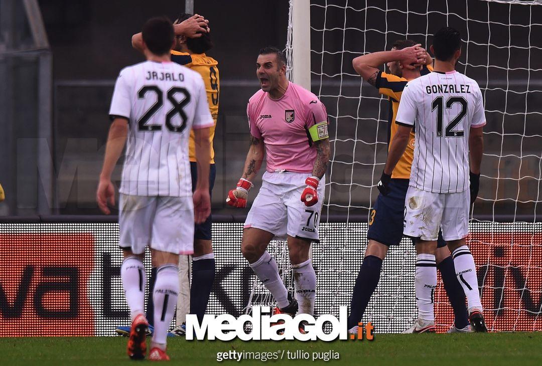 10 gennaio 2016: Hellas-Palermo  0-1. Vigilia bollente con Ballardini, Sorrentino salva la porta
