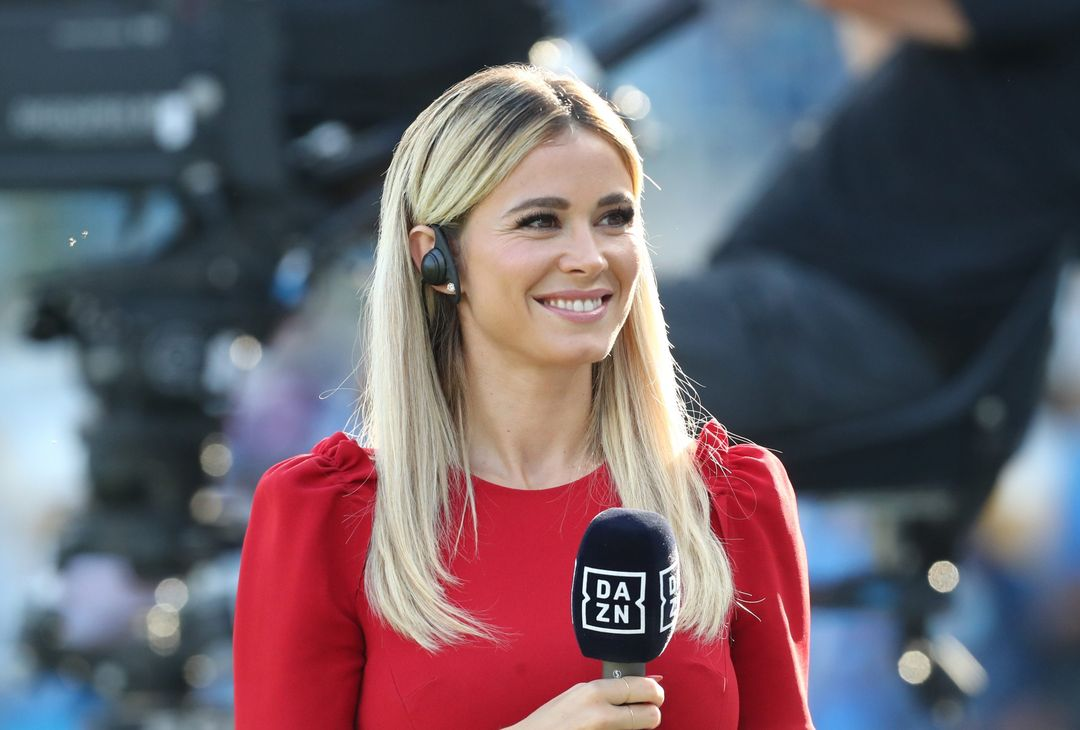NAPLES, ITALY - SEPTEMBER 11: Dazn show girl Diletta Leotta prior the Serie A match between SSC Napoli and Juventus at Stadio Diego Armando Maradona on September 11, 2021 in Naples, Italy. (Photo by Maurizio Lagana/Getty Images)