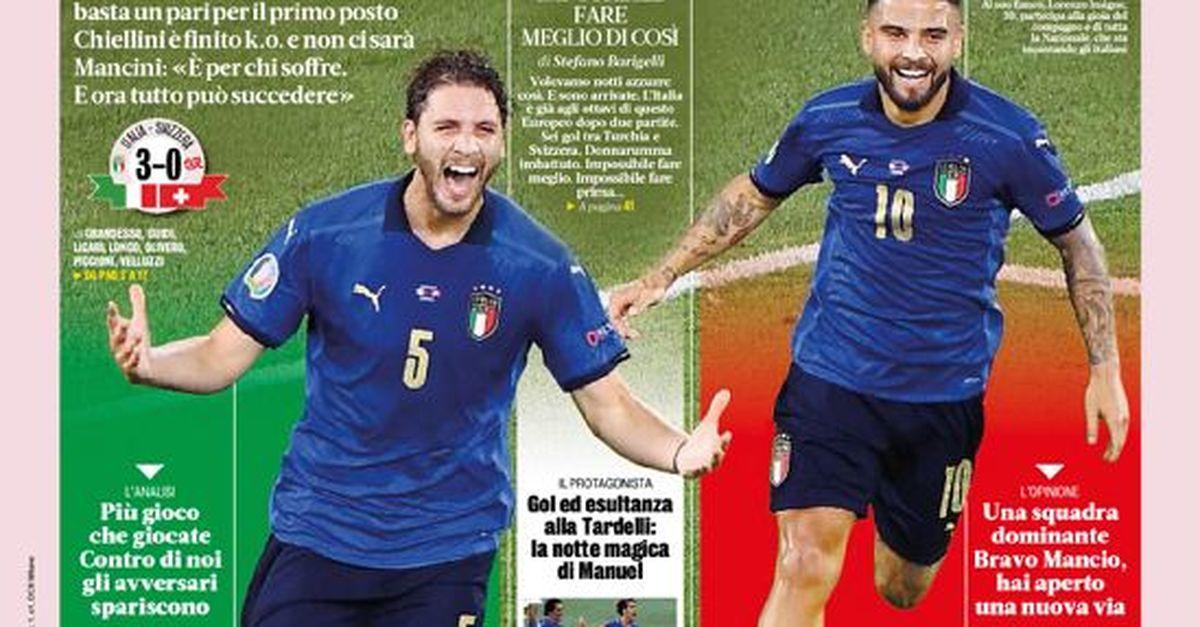 """Prima Pagina, La Gazzetta dello Sport: """"Sei bellissima. Italia show, siamo agli ottavi"""""""
