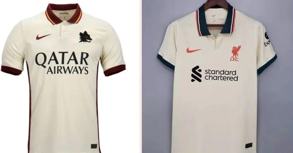 """Il Liverpool """"copia"""" la Roma: la seconda maglia è uguale – FOTO ..."""