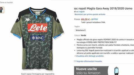 Napoli, ecco la seconda e la terza maglia: sono già in vendita ...
