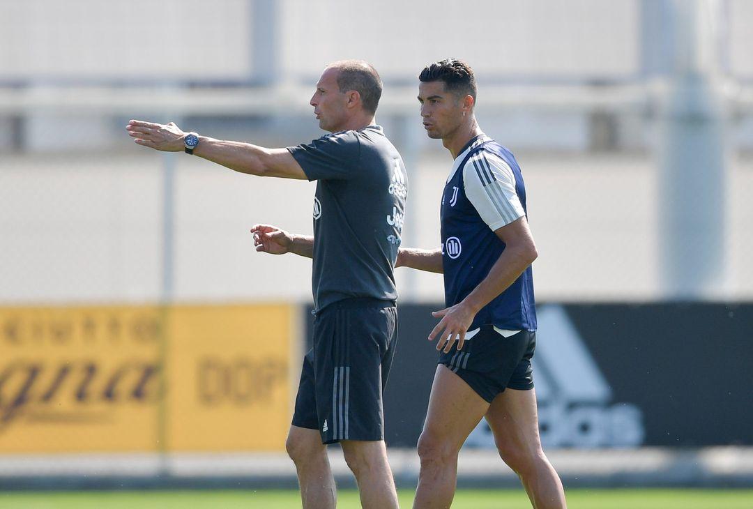 Massimiliano Allegri e Cristiano Ronaldo