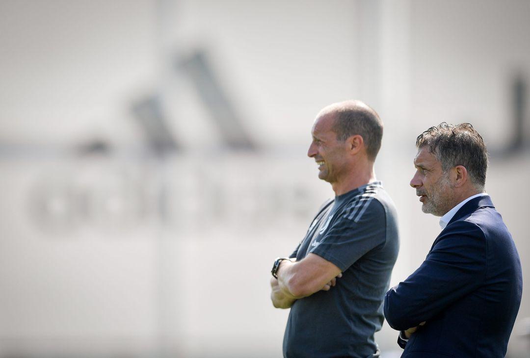 Massimiliano Allegri e Federico Cherubini